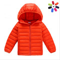 2016 boy and girl ultra light down jacket winter duck down jackets boys slim thin long sleeve parka zipper coats pockets solid