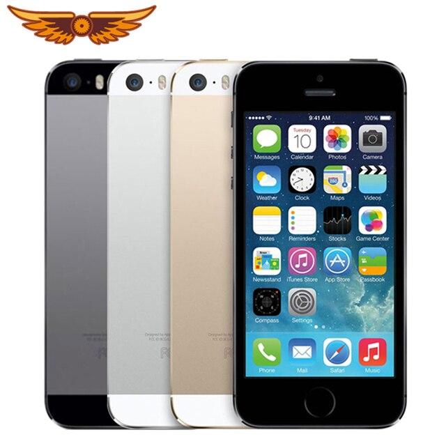 מקורי Apple iPhone 5S ליבה כפולה 16 GB/32 GB/64 GB ROM 1 GB RAM 8MP מצלמה IOS מגע מזהה מפעל סמארטפון Smartphone