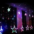 Звезды Льда Led String Гирлянды ленты 138 светодиодов Фея Рождественские Огни Окна Шторы Свадебный Номер Обстановка отеля Dearm жизни VR