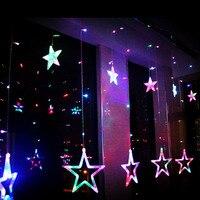 Estrelas de Gelo Levou tira 138 leds Luzes De Fadas de Cordas Garland Natal Cortinas Da Janela do Quarto de hotel de Festa de Casamento Decor Dearm vida VR