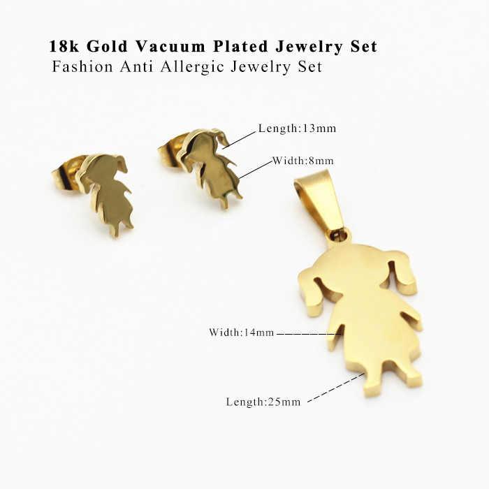 LUXUKISSKIDS ילדה ילדים דובאי אפריקאי תכשיטי סטים לנשים זהב/כסף שרשראות עגילי תכשיטים סט תכשיטי סט