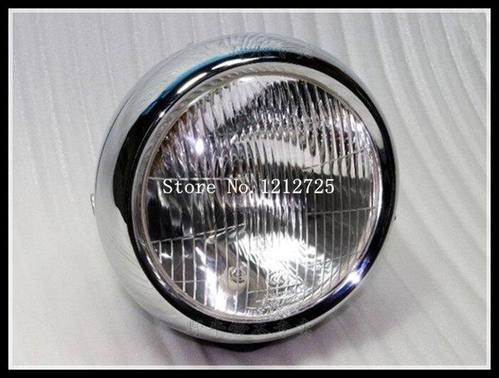 Wangjiang GN 250 reflektory motocykla GN250 montaż reflektorów maska ze szkła metalowe chromowane obudowy lampy