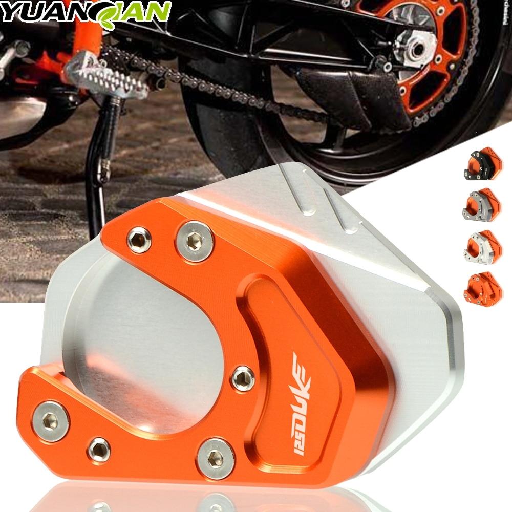 Motorcycle Kickstand Side Stand Enlarge CNC Aluminum Side Stand Plate for KTM Duke 125 200 250 390 690//KTM 690 Enduro 2008 2009 2010//KTM RC 200 2017 RC 250 2016 RC 390 2014 2015 2016 2017-Black+Orange