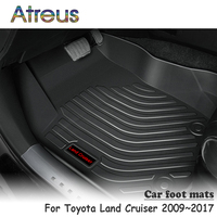 Atreus NEW 1Set TPE Car Floor Foot Mat For Toyota Land Cruiser 2009 2010 2011 2012 2013 2014 2015 2016 2017 Waterproof Carpet