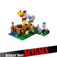 LEPIN My World Minecraft 18035 222PCS Chicken Coop Building Block Brick Enlighten Toys For Children Birthday