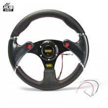 Sale Hubsports -320MM PVC Carbon Firbre Racing Sport Car Steering Wheel With Horn Button HU-FXP06OM-P
