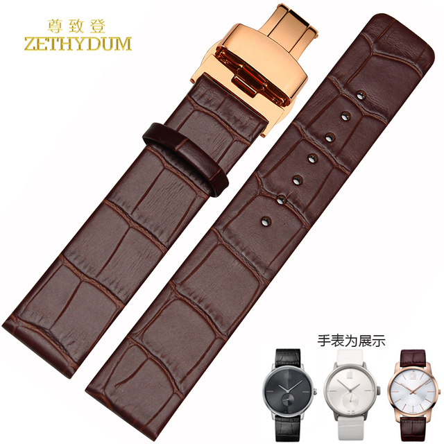 55b28f943e8a Genuine leather watchband Alligator Pattern watch strap butterfly clasp  16mm 18mm 20mm 22mm wristwatches band bracelet leather