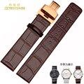 Patrón de cocodrilo correa de piel genuina correa de reloj butterfly corchete 16mm 18mm 20mm 22mm de pulsera pulsera de la venda cuero