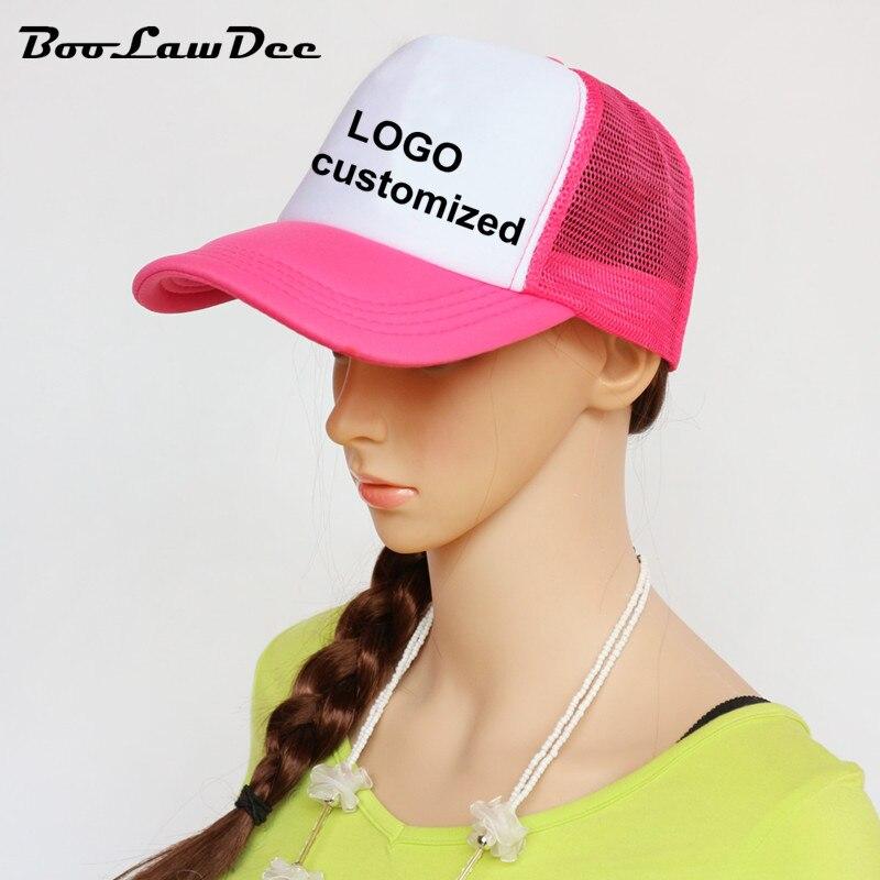 Prix pour BooLawDee personnaliser logo maille casquette de baseball réglable pour les parents et enfants casquettes de camionneur respirant scrawl chapeau 00C-00