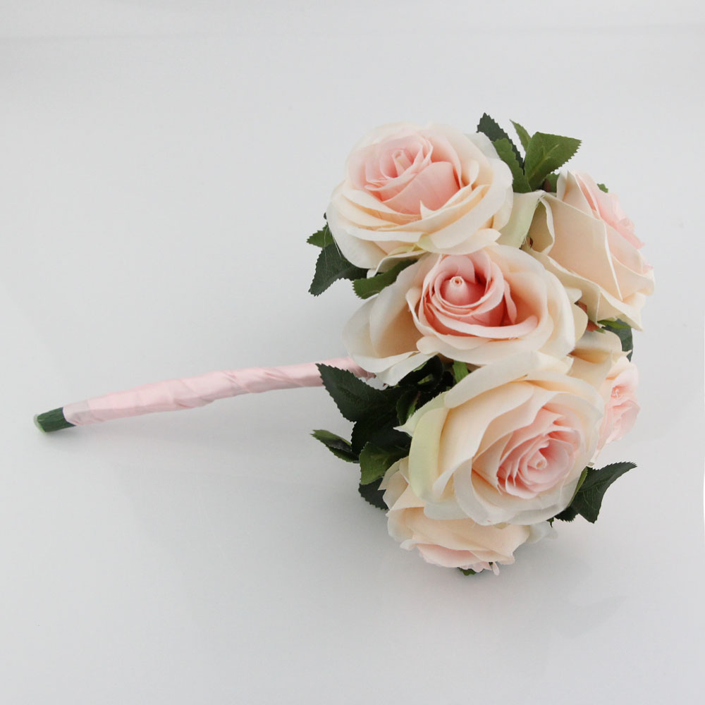 Brautsträuße Inofinn Licht Gold & Rosa Hochzeit Bouquet Braut Mit Blumen Handmade Rose Künstliche Blumen Braut Bouquets Schnelle Versand Reinweiß Und LichtdurchläSsig Weddings & Events