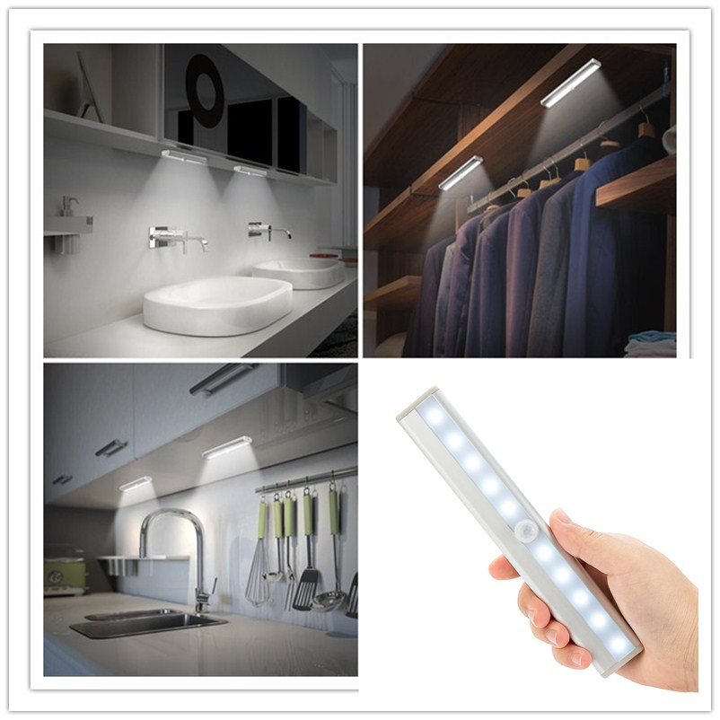 Lights & Lighting Itimo Led Night Light Magnetic With Hook Wall Lamp Battery Operated For Cabinets Toilet Bedroom Light Control Motion Sensor
