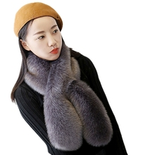 MIARA.L 2018 high quality Korean style mimicking faux fox fur womans winter scarf free shipping