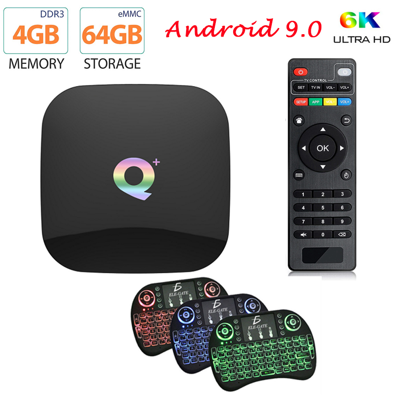 Q Plus <font><b>Smart</b></font> <font><b>TV</b></font> <font><b>Box</b></font> Android 9.0 <font><b>TV</b></font> <font><b>Box</b></font> 4GB RAM 32GB 64GB ROM 6K H.265 USB3.0 Netflix Allwinner H6 PK <font><b>MX10</b></font> <font><b>PRO</b></font> H96 Set Top <font><b>Box</b></font> image