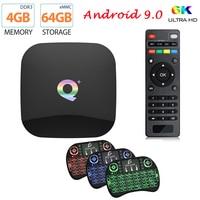 Q artı akıllı TV kutusu Android 9.0 TV kutusu 4GB RAM 32GB 64GB ROM 6K H.265 USB3.0 Netflix Allwinner H6 PK MX10 PRO H96 Set üstü kutusu