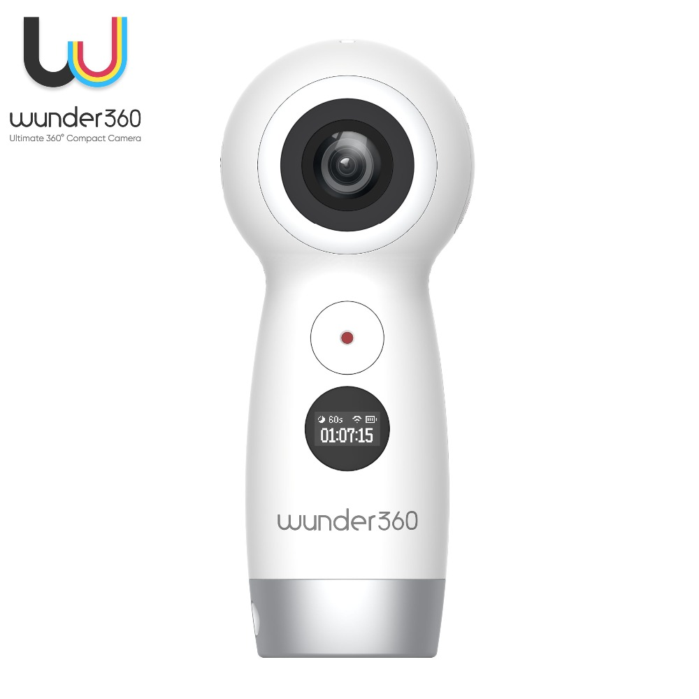 Wunder360 3D VR Fisheye Wifi Wireless IP Cameras Full HD video Dual-lens 4K 360 Degree Camera VR 4K Wifi Video Panoramic Camera vr 360 camera hd video panoramic view 180 degree wide angle dual fisheye lens panorama 360 camera for android smartphone