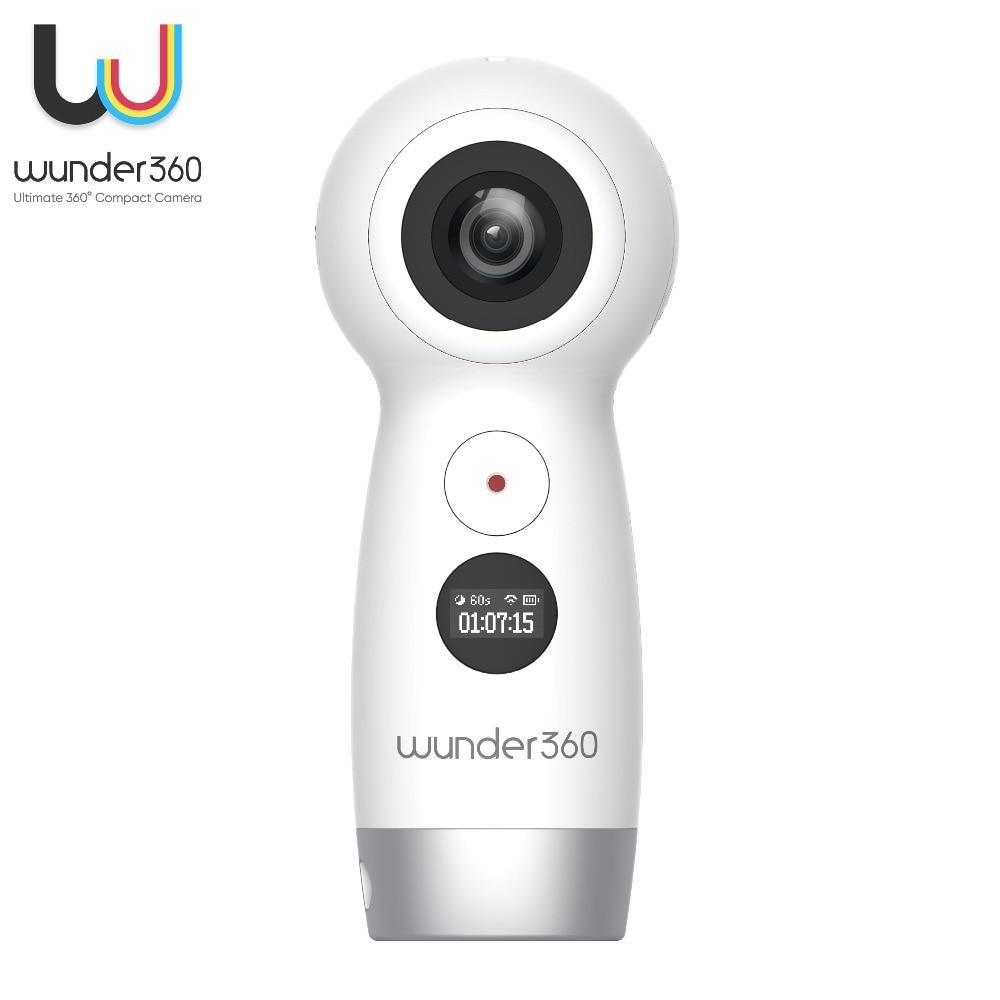 Wunder360 3D VR Fisheye Wifi Wireless IP Cameras Full HD video Dual-lens 4K 360 Degree Camera VR 4K Wifi Video Panoramic Camera insta360 air 3k hd 360 camera dual lens panoramic camera compact mini vr camera for samsung oppo huawei lg andriod smartphone