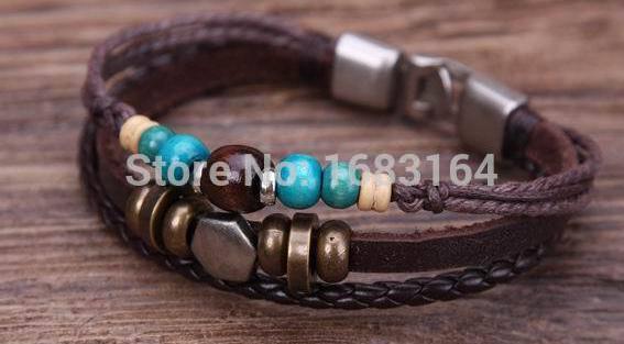 G77 Silver Wood Beads Hemp...