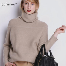 Lafarvie Loose Turtleneck Autumn Winter Sweater Women Thick Warm Pullover and Soft Long Sleeves Jumper Femme Pull 4Color