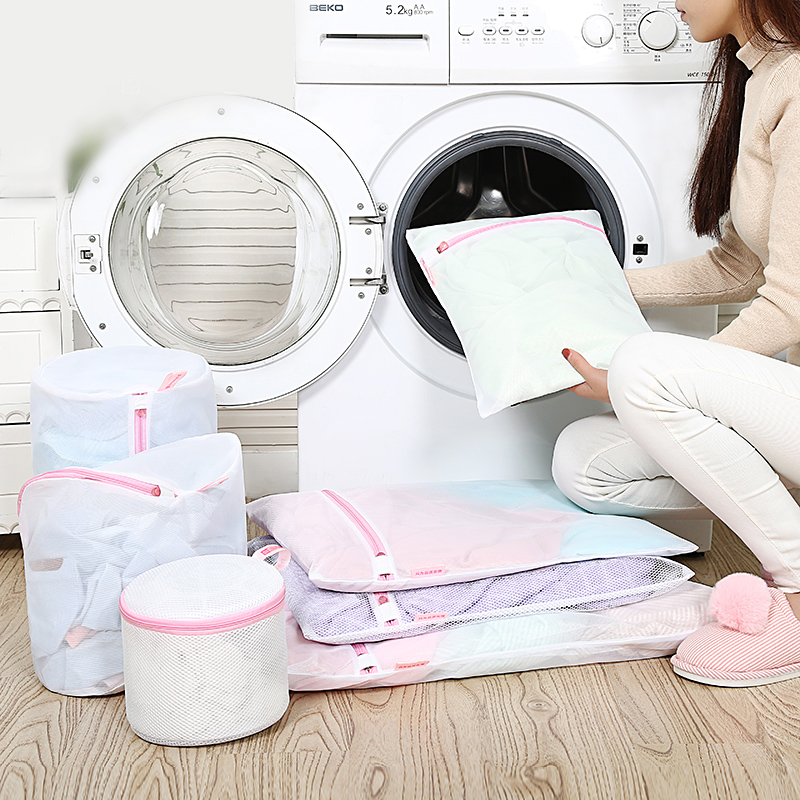 Luluhut Laundry Bags For Washing Machines Nylon Mesh Laundry Basket For Clothes Bras Socks Foldable Protecting Laundry Bag
