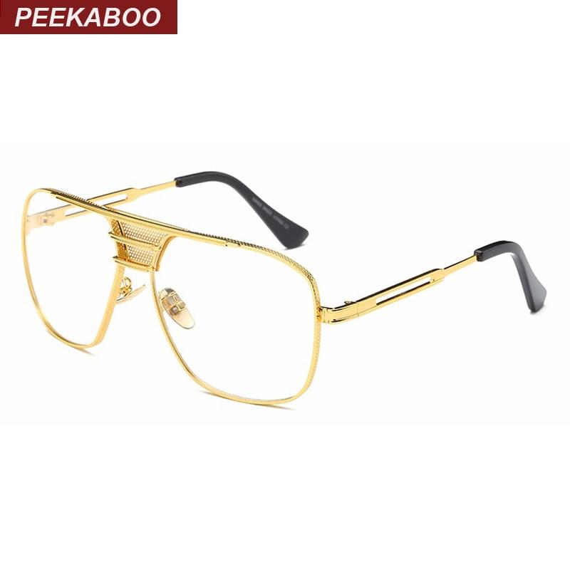 Peekaboo nuevo negro ojos gafas marcos para hombres mujeres alta ...