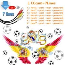 цена на Cccam server HD Cccam 7 lines for 1 year Europe work well for Freesat v7 HD DVB-S2 satellite tv receiver 1 year cline Spain