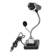 New Arrival Black HD Network Camera Webcam Night Version W/ Microphone For Desktop Laptop Computer