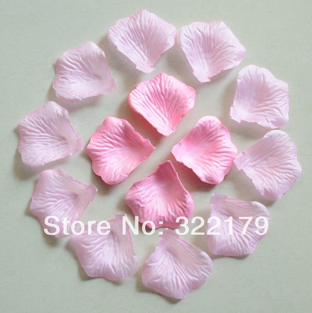 1000pcs Light Silk Rose Petals Wedding Party Decor Pink Confetti ...