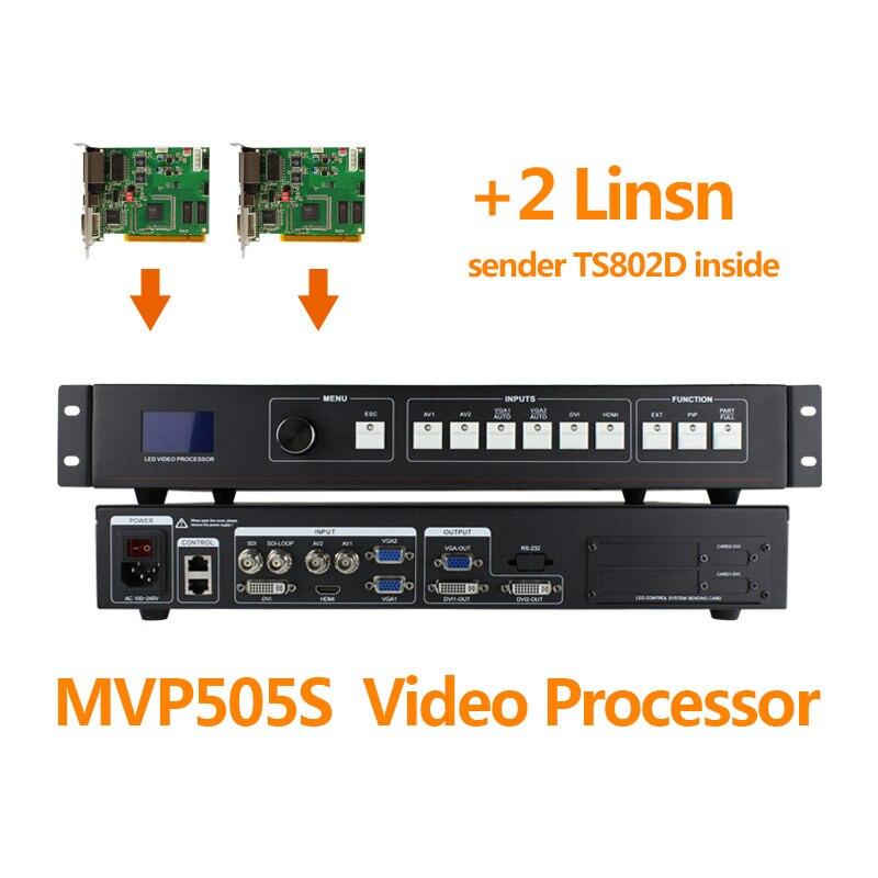 Led controller mvp505s sdi จอแสดงผล led โปรเซสเซอร์วิดีโอ 2 ชิ้น linsn 802 led controller ts802d ส่งการ์ด|หน้าจอ|   -