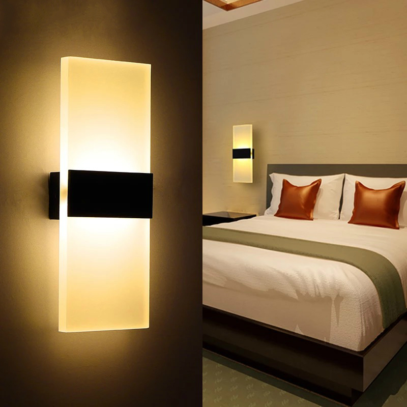Modern led wall lamp acryl bed room wall light living Contemporary wall sconces for living room