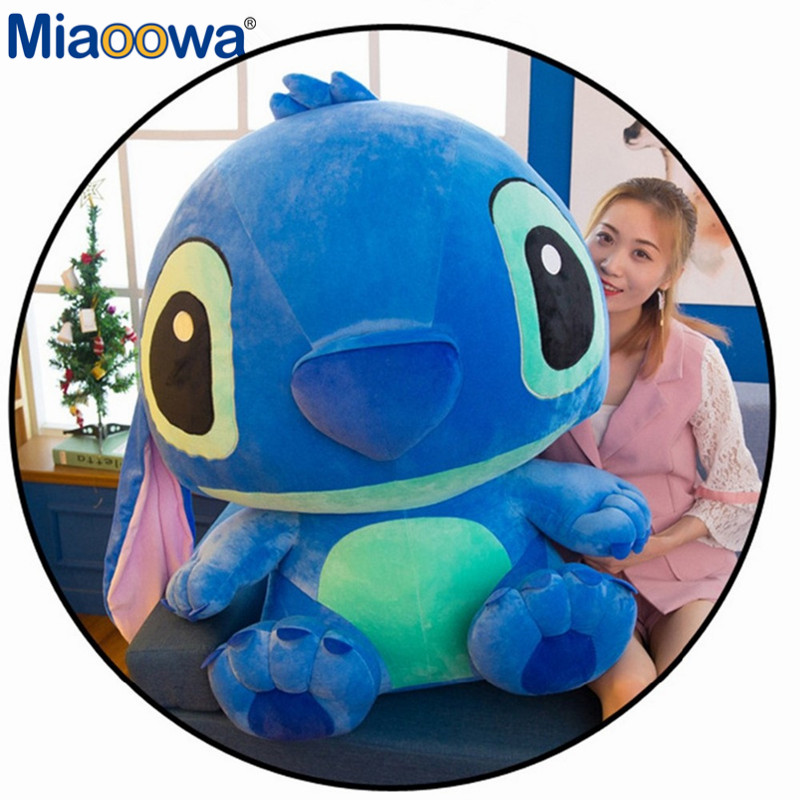 1pc 80cm Super Giant Cute Anime Lilo And Stitch Plush Toy Baby Soft Pillow Kids Stuffed Doll Baby Toy For Children Gift - 3