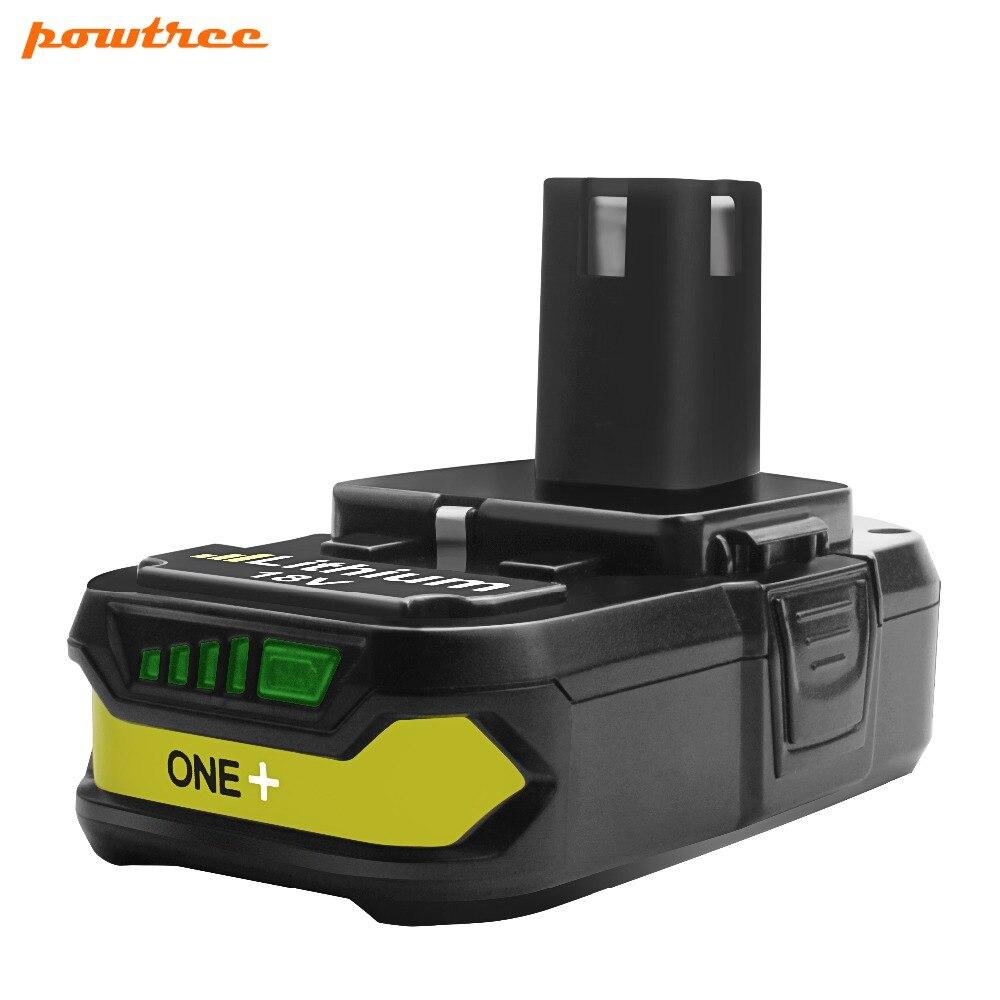 18 v 2500 mah Li-ion P107 Rechargeable Batterie Pour Ryobi Outils Électriques Perceuses Remplacer P100 P102 P103 P104 P105 P107 p108 L15