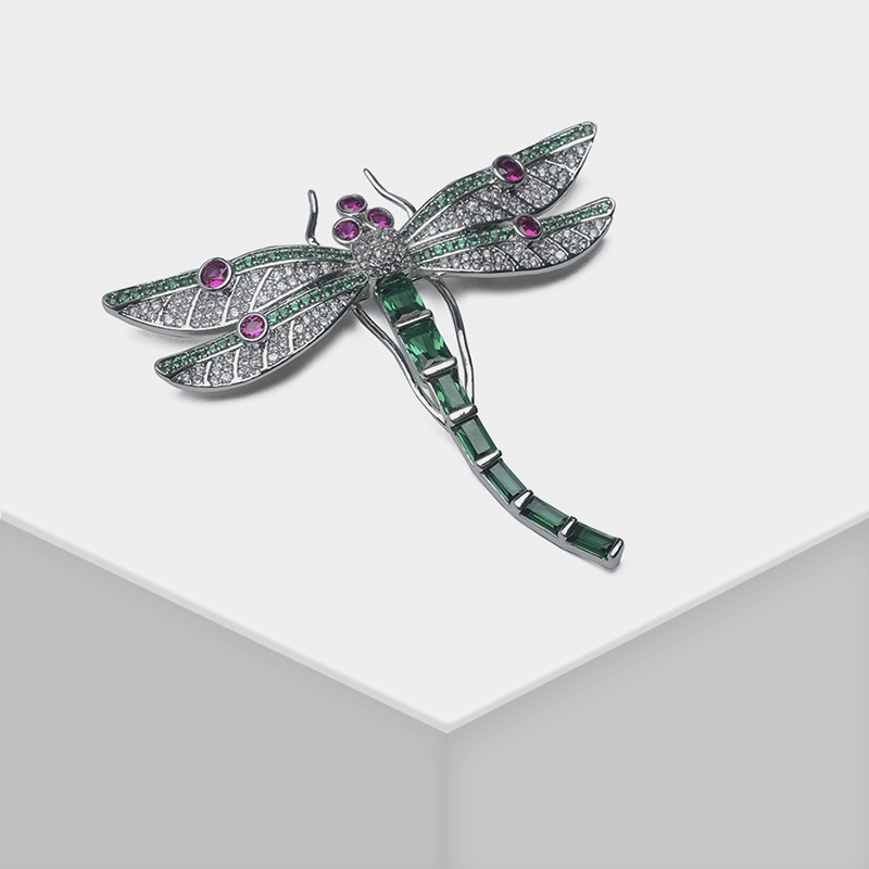 Broche de mode en forme de libellule AmoritaBroche de mode en forme de libellule Amorita