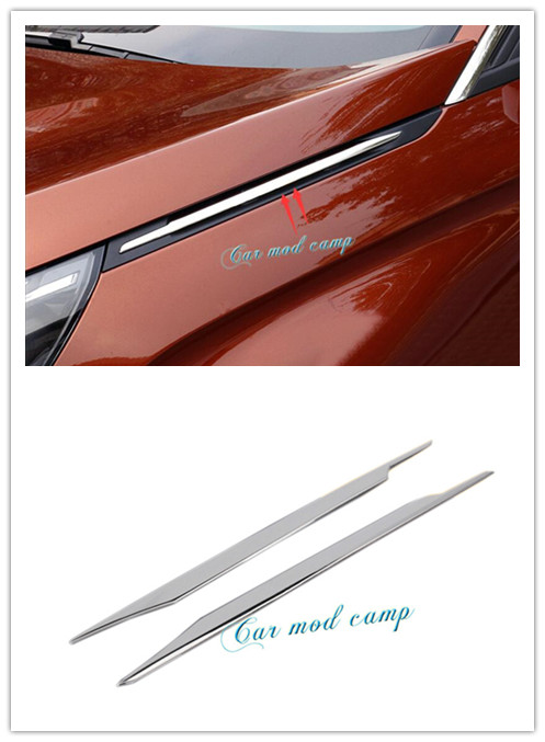 New! For Peugeot 3008GT 2016 2017 Stainless Steel Side Air Vent Hood Intake Fender Cover Decoration Trim Car Styling! auto side air vent fender decoration sticker cover hole intake grille duct flow