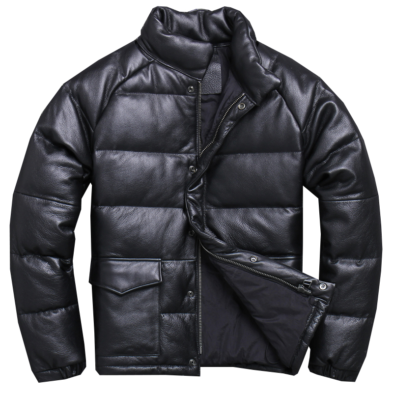 Down-Jacket Harley Damson Genuine-Leather Russian Thick-Cowhide Winter XXXL Casual Warm