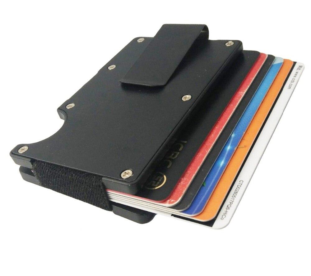 Artmi Mens Slim Money Clip Ljus Namn Hållare Aluminium RFID - Plånböcker - Foto 2