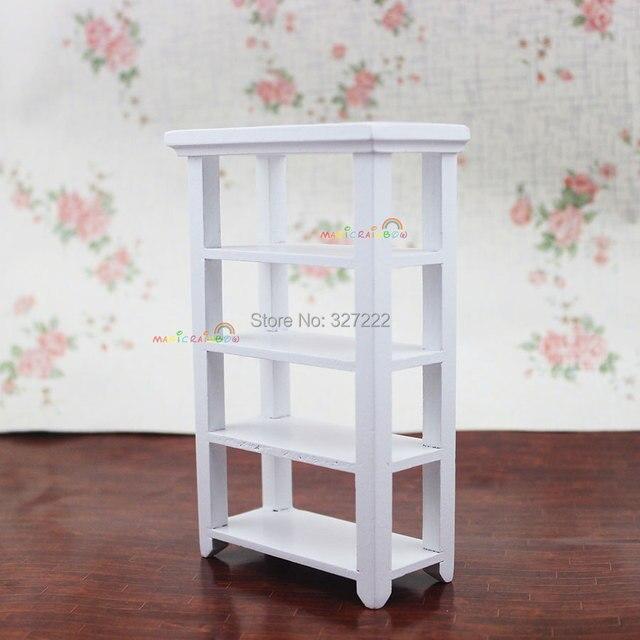 US $4.95 |Casa di bambola di legno giocattoli mensole espositive supporto  scaffale da pranzo camera da letto bianco 1 12 scale mobili dollhouse ...