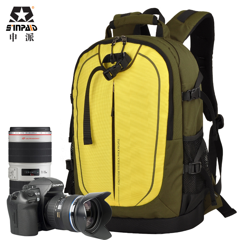 Sinpaid Ultra Durable Wear-resistant Waterproof Anti-theft Prevent Vibration Travel Camera Bags  Weight Reduction SLR Backpack sinpaid anti theft digital dslr photo padded camera backpack with rain cover waterproof laptop 15 6 soft bag video case 50