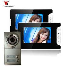 Yobang Security freeship 7-inch TFT LCD building video intercom system doorbell villa door intercom with High Definition Camera