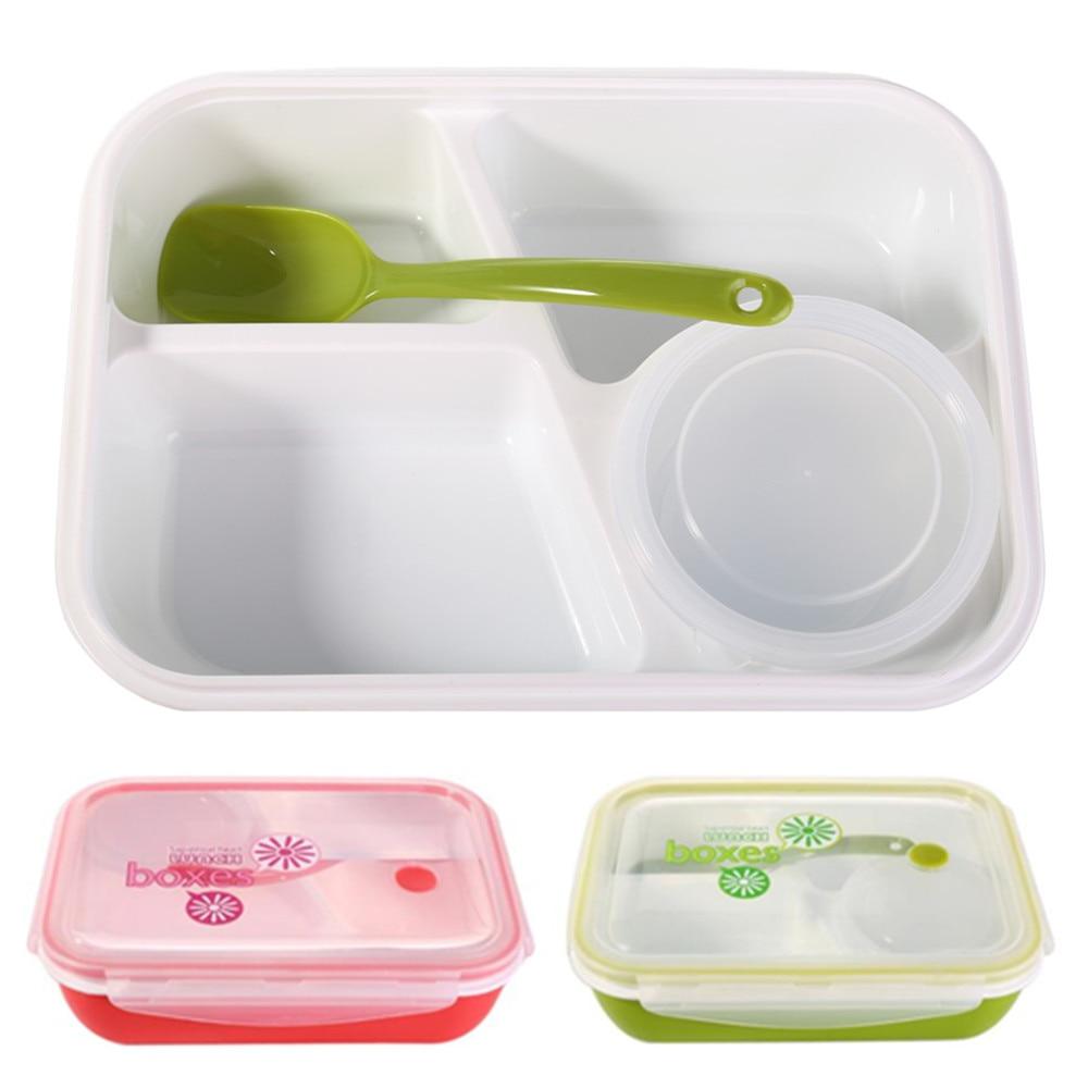 scatola per alimenti in plastica portatile con coperchio per frutta e verdura Contenitori per alimenti