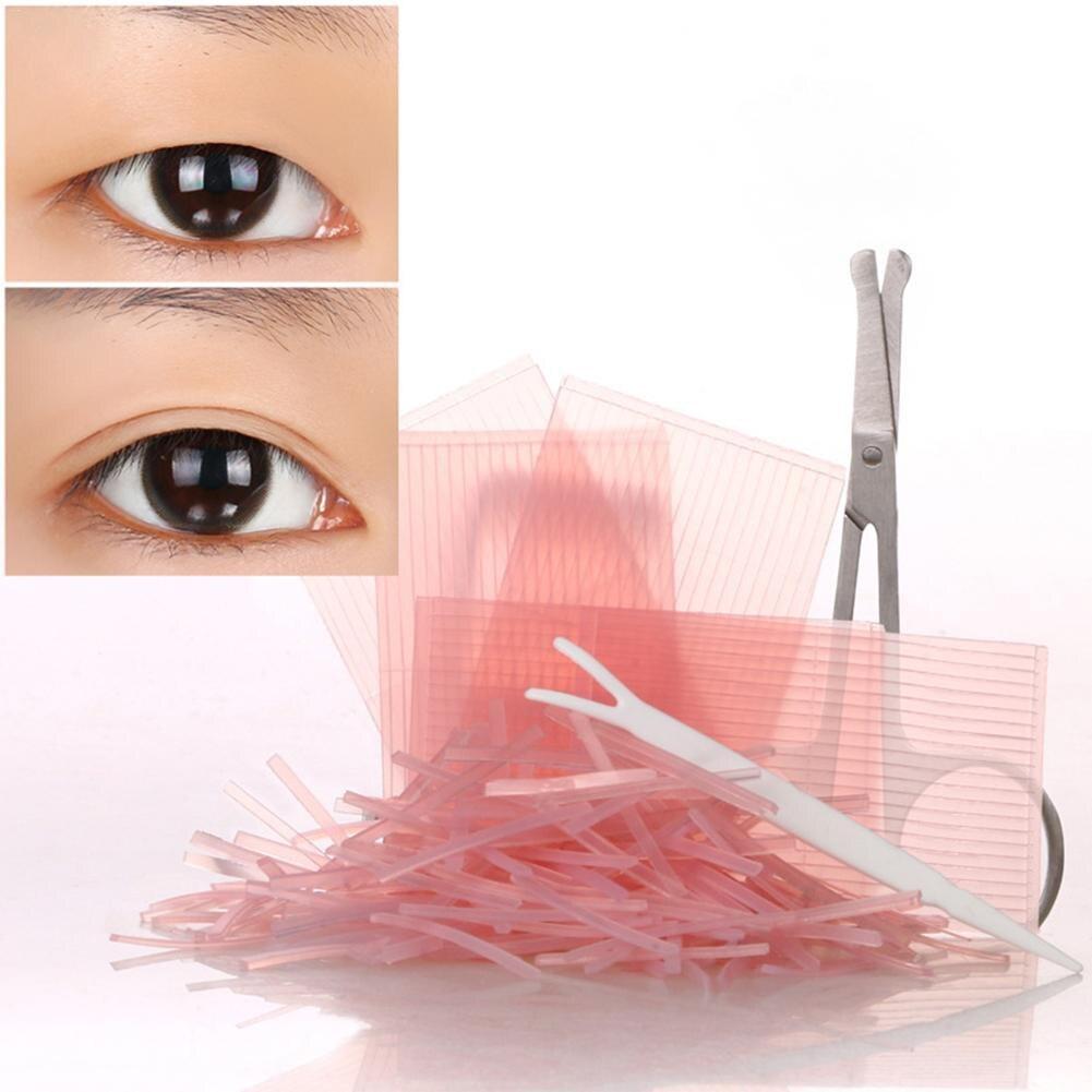 572Pcs Double Eyelid Tape Makeup Invisible Transparent Fiber Stripes Eyeliner Sticker Medical Safety Scissors