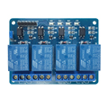 1 Pc 5V Four 4 Channel Relay Module With optocoupler for PIC AVR DSP ARM Arduino control panel PLC relay four way module