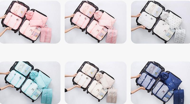 roupas higiene pessoal organizador viagem bagagem bolsa kits acessórios viagem