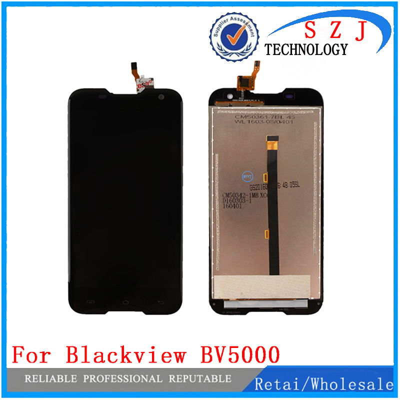 все цены на New case For Blackview BV5000 LCD Display Touch Screen For Blackview BV5000 LCD Screen Digitizer Assembly Free Shipping онлайн