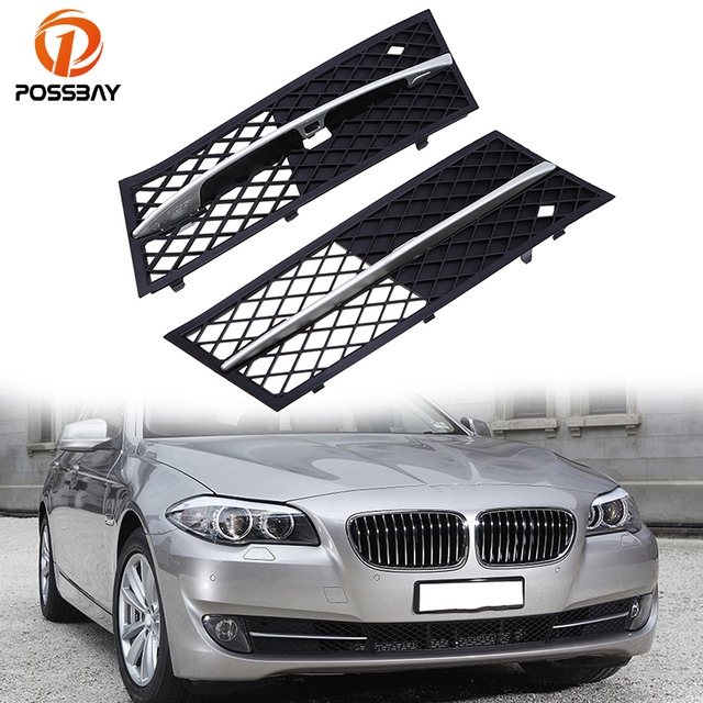 Possbay Car Front Lower Bumper Grille Grilles Fit For Bmw 5 Series
