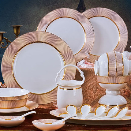 Special offer Korean dishes authentic Jingdezhen China 56 head 10 high grade ceramic tableware style style