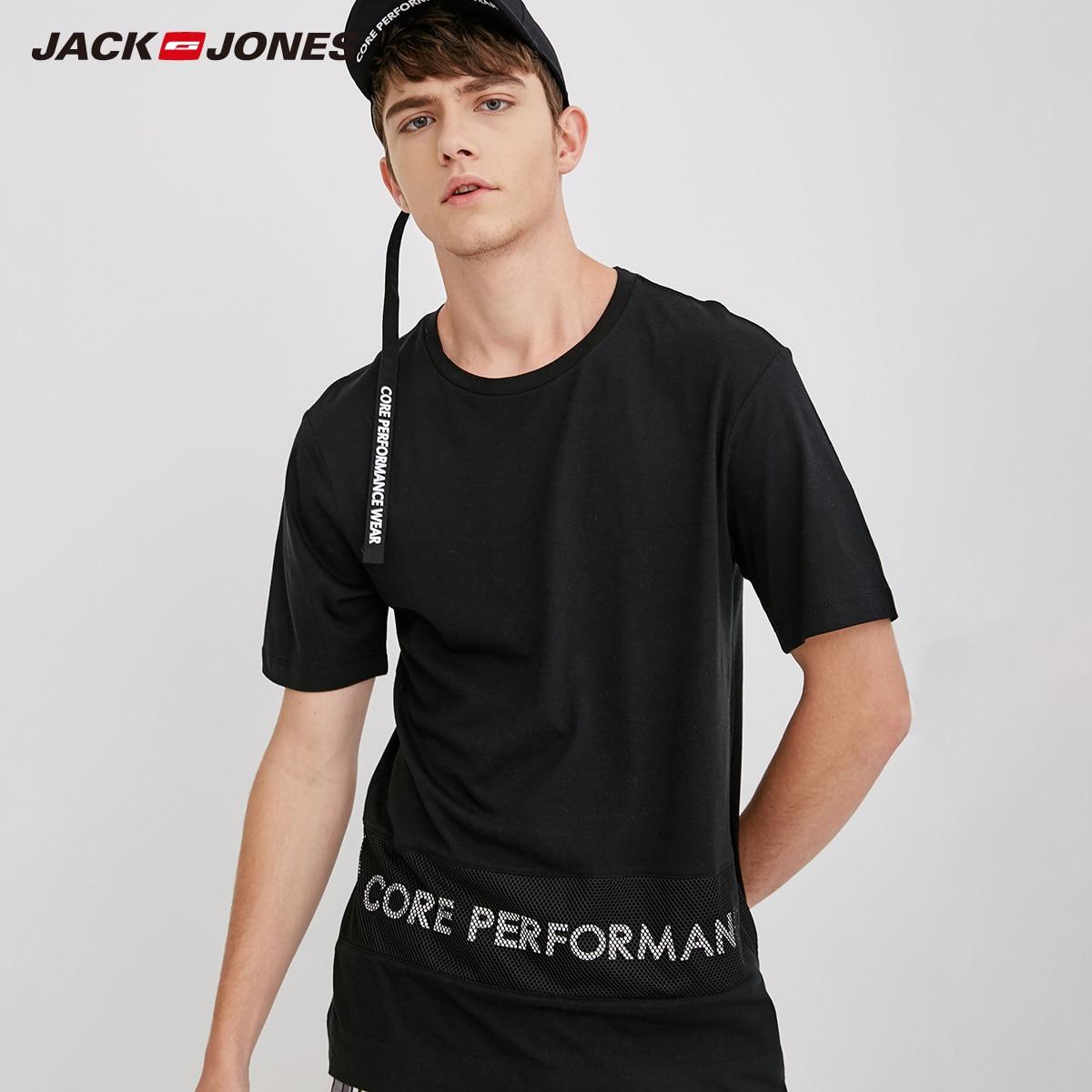 JackJones Men's Modal Letter Straight Short sleeve   T  -  Shirt   Solid   T     shirt   Men's Tshirt 2019 Brand New Menswear C| 218201525