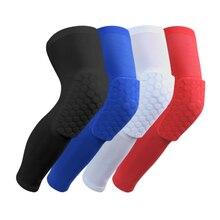 1 пара дышащая Баскетбол Съёмка Спорт Предметы безопасности kneepad Honeycomb Pad Бампер Brace kneelet защитные наколенники rodilleras