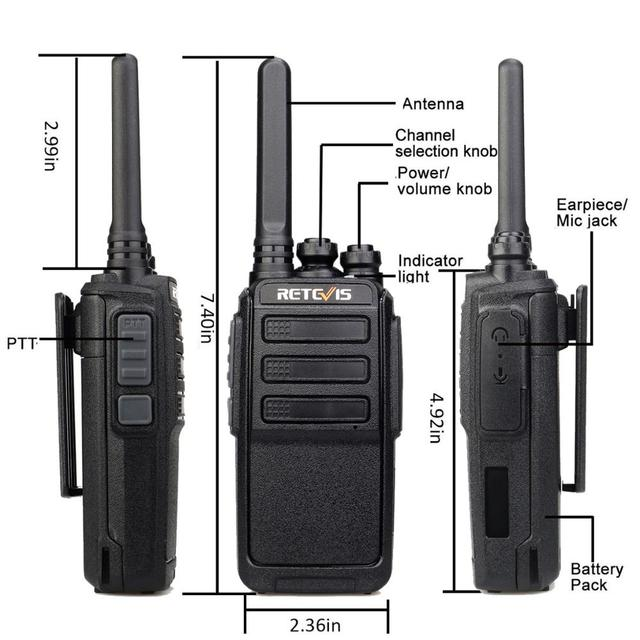 RETEVIS RT28 Walkie Talkies 6 pcs PMR Radio VOX PMR 446 FRS Portable Mini Two Way Radio Station Transceiver with six way charger 5