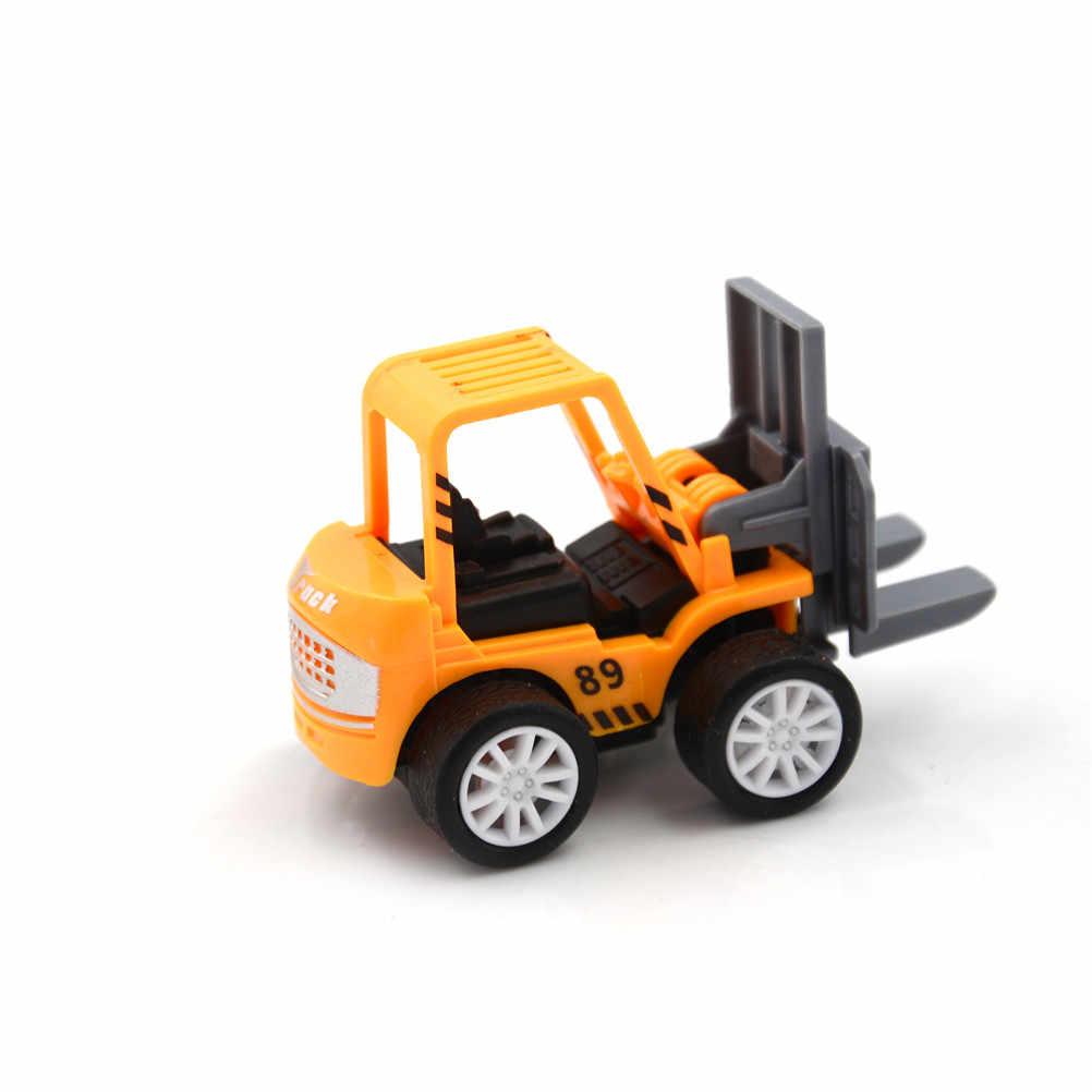 MINI ของเล่นเพื่อการศึกษาเด็ก 1 PCS วิศวกรรมรถของเล่นเด็กรถชุดรถรุ่นรถของเล่น