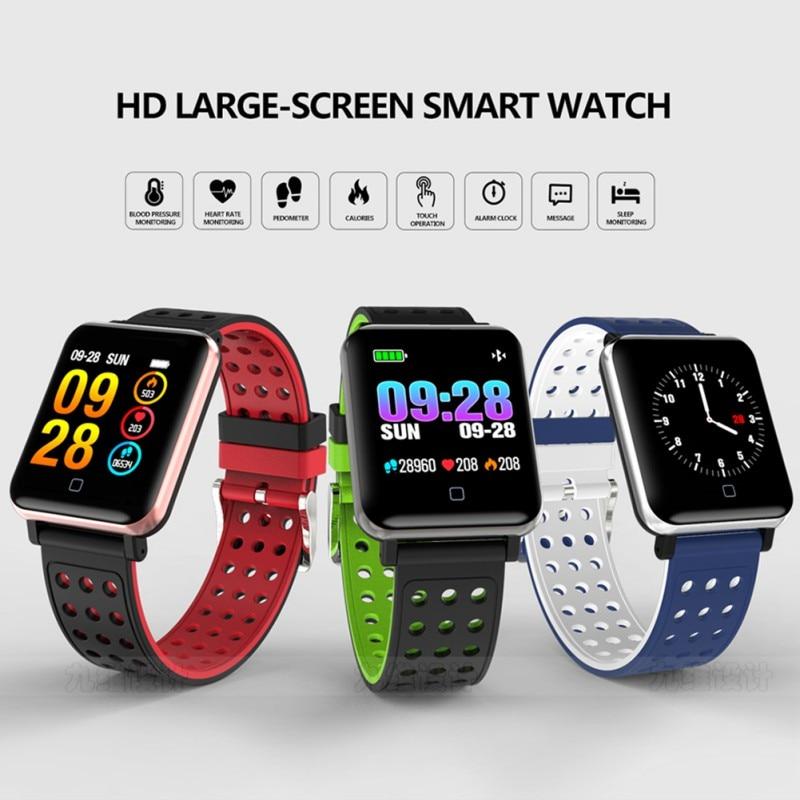 441ad54507cb M19 inteligente reloj de pulsera sueño Monitor de Fitness Tracker presión  reloj resistente al agua ...
